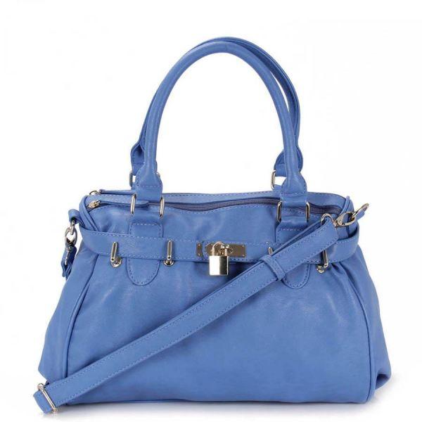 10feda4a5 Bolsa em couro ecológico azul - Antoniazzi